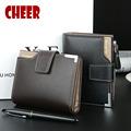 Fashion pu leather Men Short Wallet coin purse men card wallet men luxury brand wallet 3
