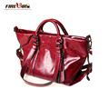 2016 Fashion Brand Genuine leather Handbag Oil Wax Leather Crossbody bag Top high quality Lady gift