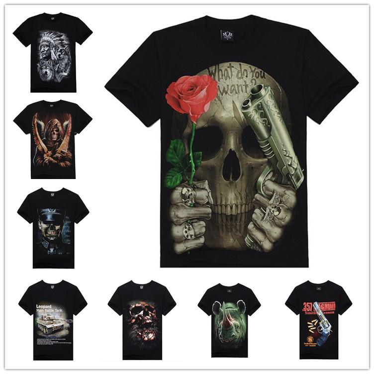Cotton O-neck Guns n roses 3d Print T shirt men 2015 Brand new Skull/Tanks/Unicorn Male Personality Graphic Tee shirts Rock Tops(China (Mainland))