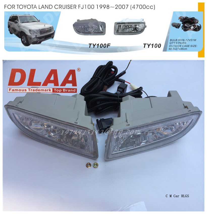 Фотография Car fog lamps, light source, safety DLAA  fog lamps, suitable for  Toyota  LAND CRUISER FJ100  1998-2007  9006 12 V 51w