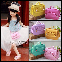 New 2015 Baby Girls Fashion Bags Girl Accessories Kids bowknot Handbags Children PU Party Shell Bag Shoulder bags sling Bolsas(China (Mainland))
