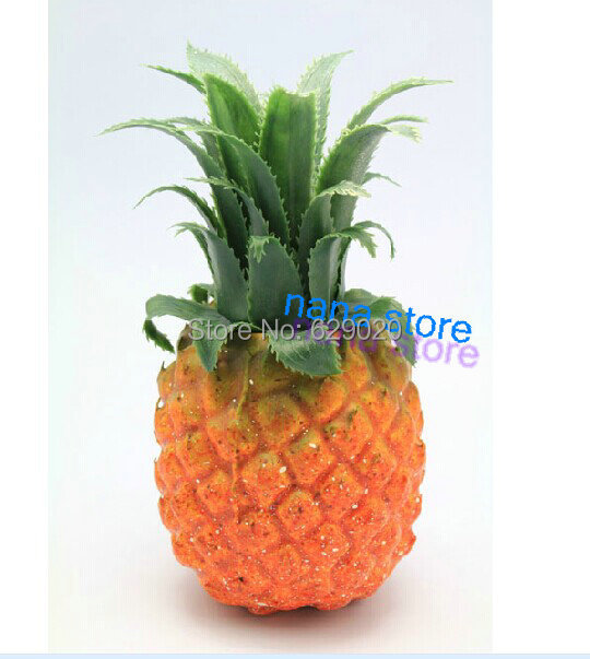 2 pc artificial pineapple faux pineapple fake fruit faux for Artificial pineapple decoration fruit