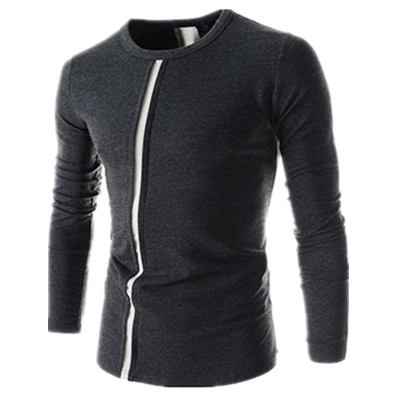100 pcs/lot high quality Alibaba suppliers cotton and polyester mixed striped t shirt men(China (Mainland))