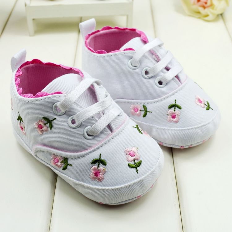Cute Embroidered Lace Baby Infant Shoes Kids Girls Toddler Soft Bottom Shoes New Free shipping & Drop shipping