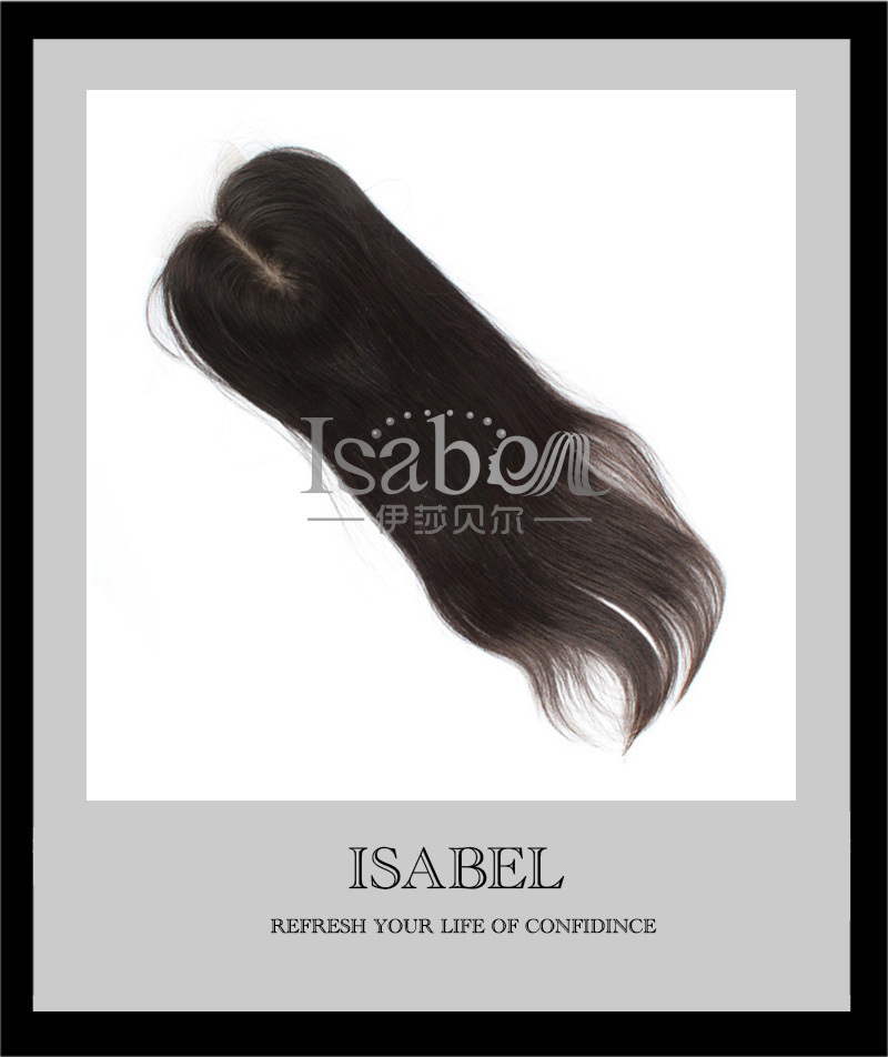 """Isabel Brazilian Straight Hair Lace Top Closure 4x4"""" Virgin Brazilian Lace Closure 3 /Free Part Bleached knots Hair Extension(China (Mainland))"""