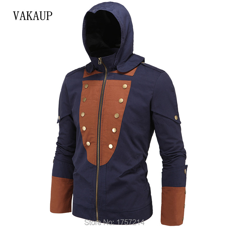 New Mens Brand Clothing Fashion Button Male Cotton Jacket Men Fall Fashion Men Slim Fit Jackets Winter Casual Jackets Clothing(China (Mainland))