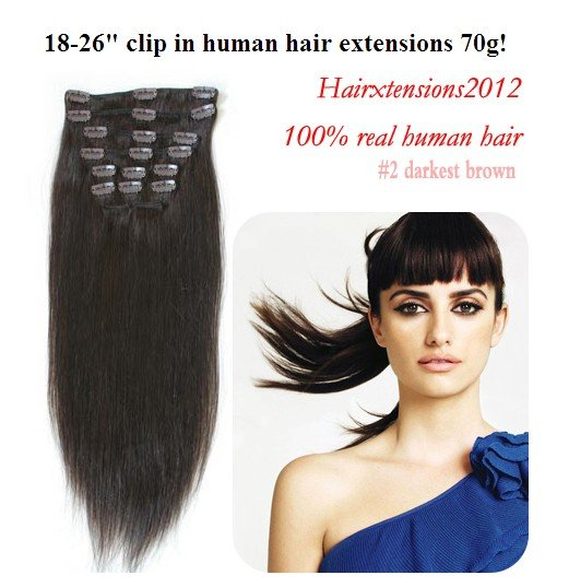 18 Inch Clip In Hair Extensions Human Hair 2