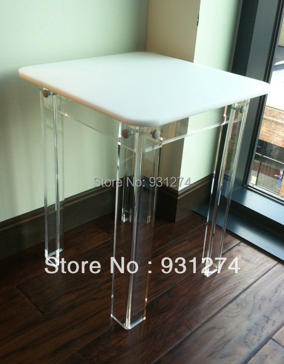 ONE LUX square top acrylic side table colored, lucite Corner table KD Packing,Perspex living room furnitures(China (Mainland))