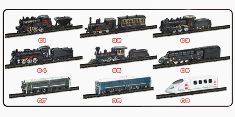 Toys Educal 9 Type Mini Plastic Models Train Ho Scale 4D 1/200 Model Train With Retail Package 18PCS/Set(China (Mainland))