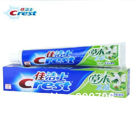 8 Pcs Herbal Crystal Mint Crest Toothpaste Whitening(China (Mainland))