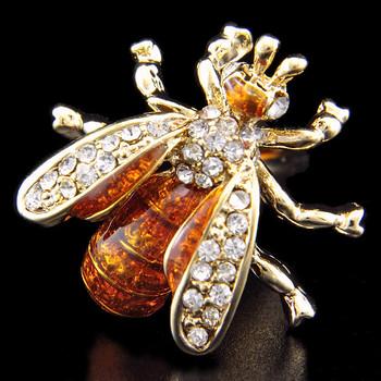 SPARTA Plating 18K gold + Austria crystal bees cufflinks men's Cuff Links + Free Shipping !!!