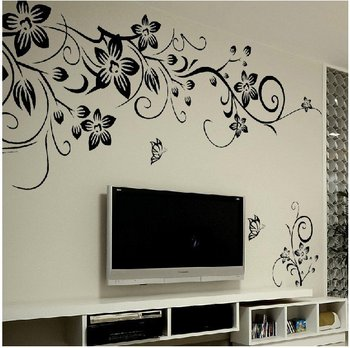 Stylish Home Decoration Wall Stickers Bedroom Living Room TV Backdrop Wall Decals Free Shipping J144