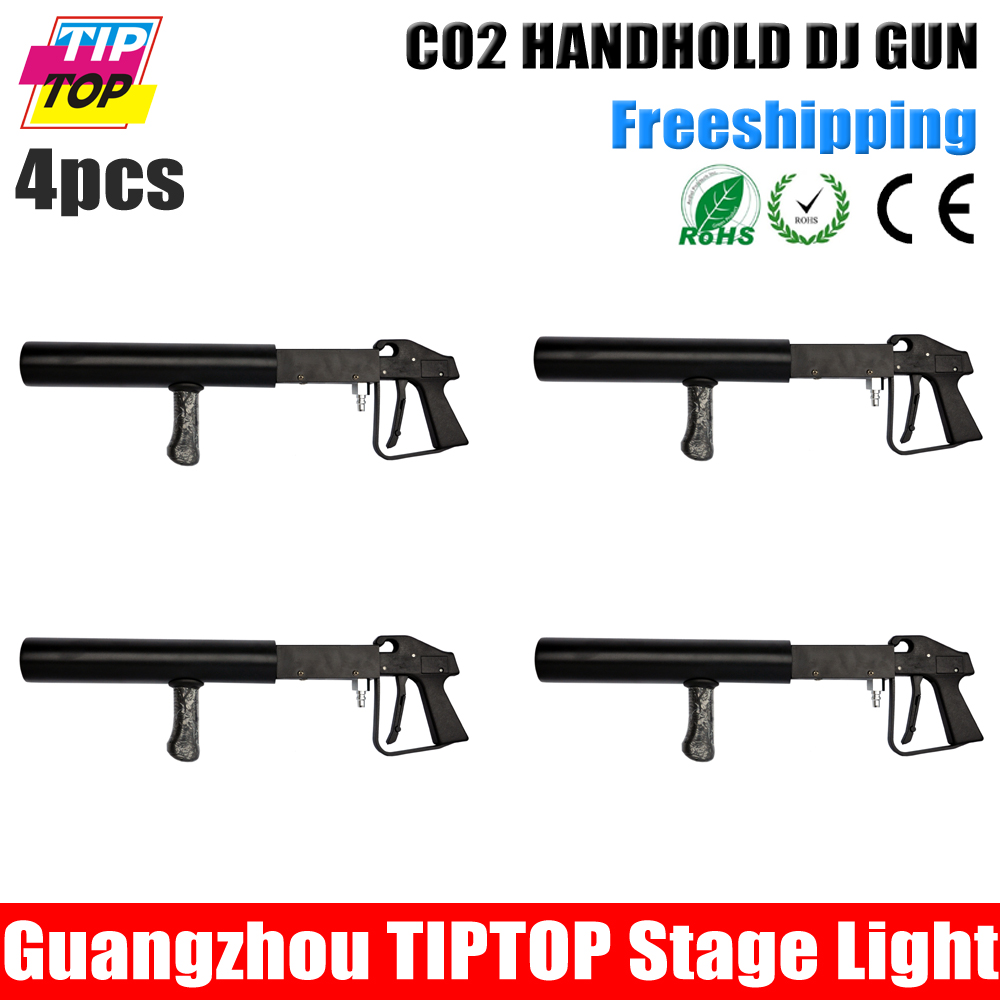 Free Shipping 4pcs/lot By fedex CO2 Air Pistol Shoot 6-10 Meter China TP-T62 CO2 DJ Cannon CO2 Pellet Gun TIPTOP Stage Lighting(China (Mainland))