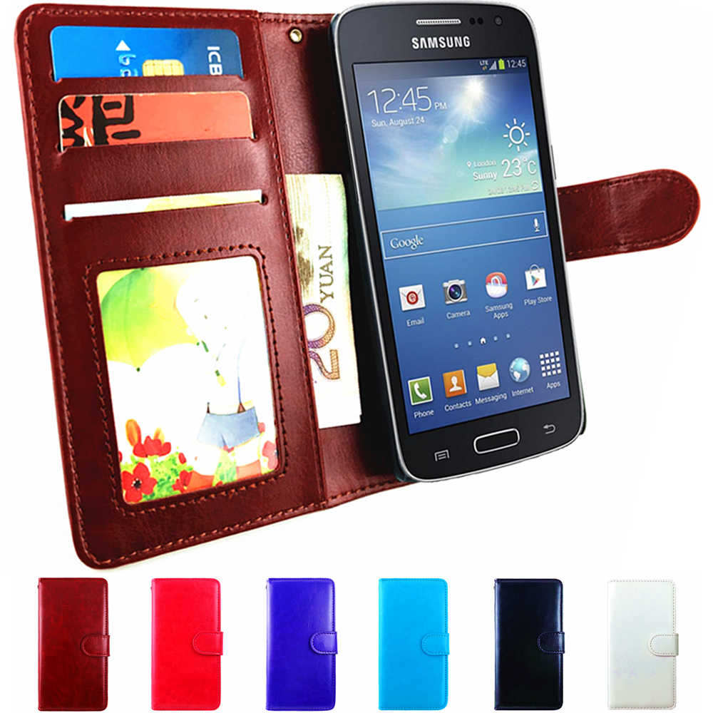 Flip Cover Leather Wallet Case For Samsung Galaxy Grand Prime Duos Case SM-G531H G531H SM G530H SM-G531F DS Skin Bag Card Holder(China (Mainland))
