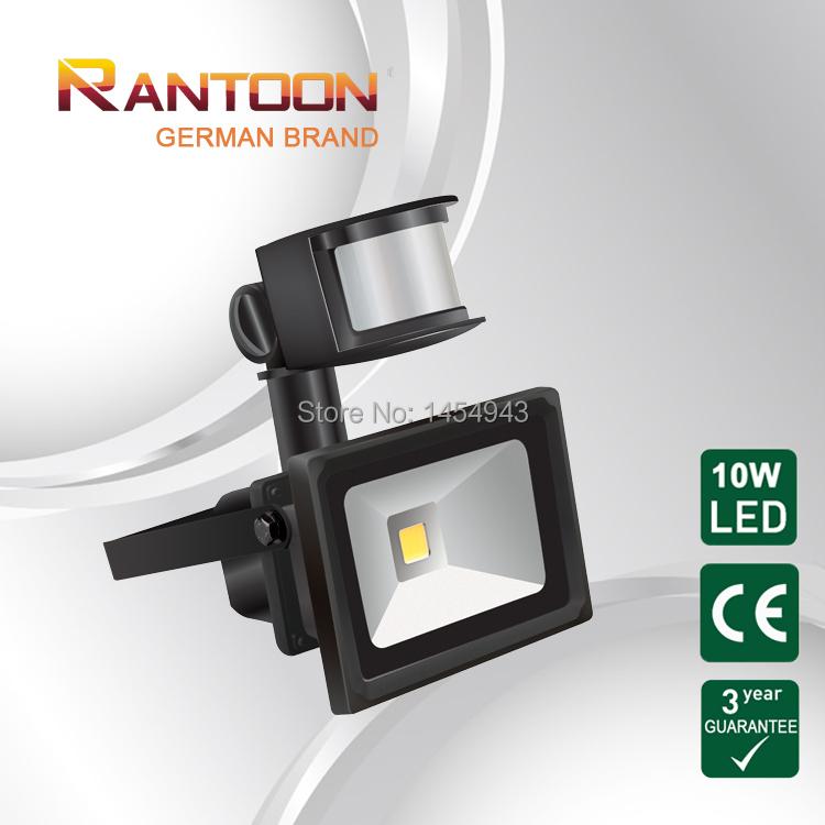 German brand, LED floodlight with PIR sensor motion infrared light, CE&Rohs Certified, outdoor light(China (Mainland))