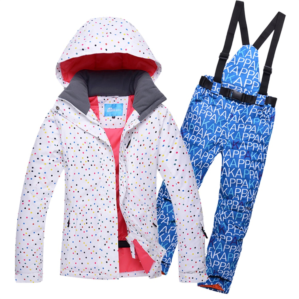 High Quality SALE!! Skiing Jacket Women Outdoor Snowboard Clothes Set Waterproof Breathable Female Ski Suits Minus -30 Degrees(China (Mainland))