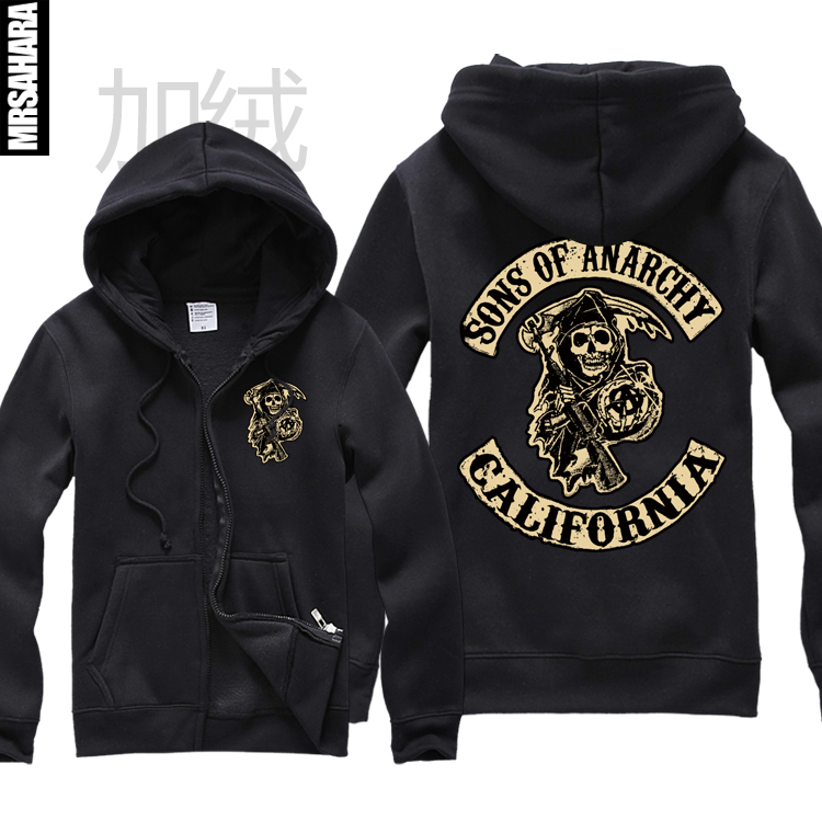 sons of anarchy hoodies california tig clay soa samcro. Black Bedroom Furniture Sets. Home Design Ideas