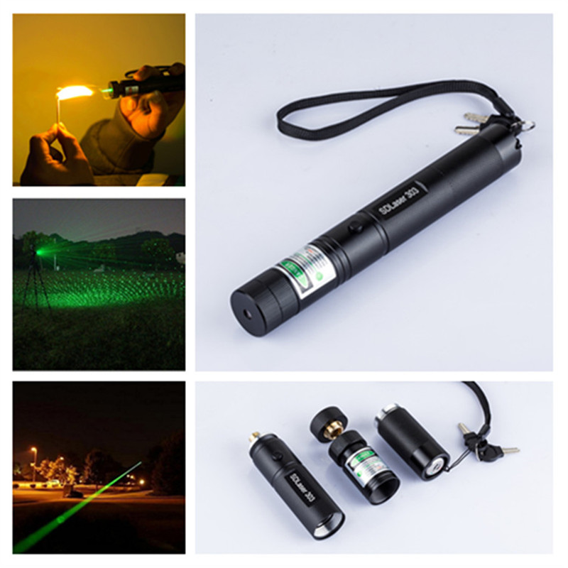 The best quality Green Laser 303 lazer starry laser pointer pen light(without battery and charger)(China (Mainland))