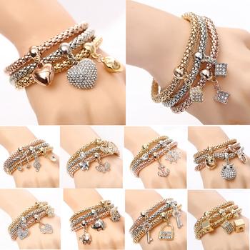 2016 New Fashion Bracelets Bangles Jewelry Gold Silver Chain Bracelet 11 Styles U Pick Charm Bracelets For Women Wholesale Cuff
