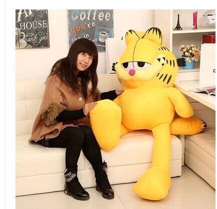 Stuffed animal 150 cm Garfield cat plush toy doll high quality gift present w1266(China (Mainland))