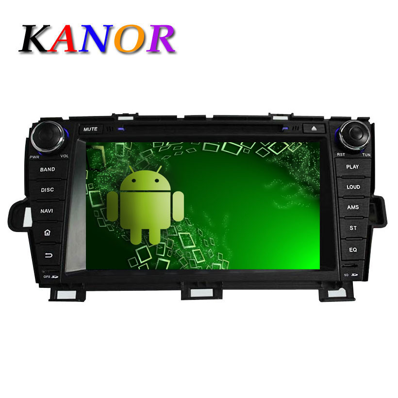 Quad core 2 din gps navigator android 5.1.1 car dvd player for Toyota Prius autoradio central multimedia lecteur with 1024*600(China (Mainland))