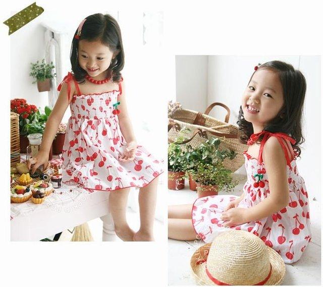 Girls Dress,two-pieces Sling skirt+underwear