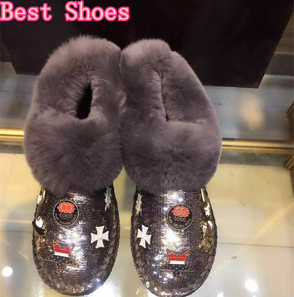 Best Shoes Woman Warm Winter Ladle Shoes Rubber Sole Round Toe Slip On Fashion Wimen Boots Designer Winter Boots Mujer Zapatos