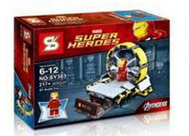 SY303 The Avenger Super Heroes Minifigure IRONMAN +Garage Tony Iron man Building Block Kids Toys Lego Compatible classic toys(China (Mainland))