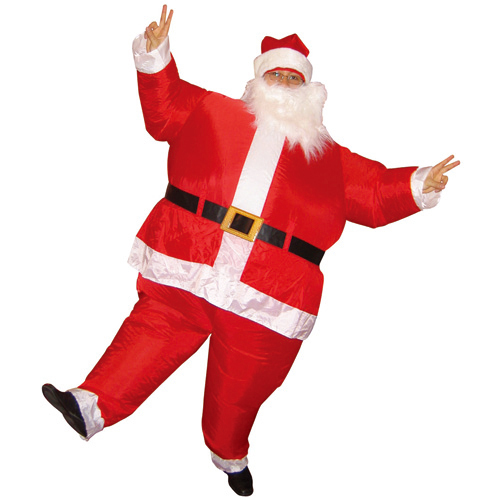 Santa Inflatable Costume Adult Fancy Dress Suit Party Halloween Christmas Xmas Santa Claus Costume carnival costumes for women(China (Mainland))