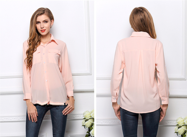 Blusa весна лето женщин рубашка шифон топы