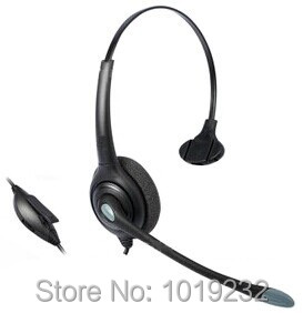 Office Telephone Headset with Mic+QD+Volume Mute for Cisco Linksys SPA Polycom Grandstream Panasonic Phones with 2.5mm Jack(China (Mainland))