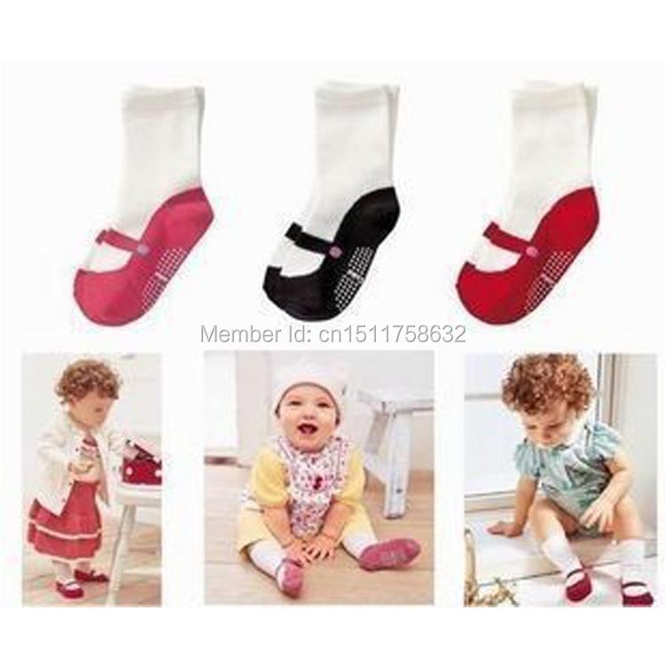 New Arrival Cute Mini Footgear Baby Kids Non-Slip Socks Children Socks Baby'S Gifts 3 Colors(China (Mainland))