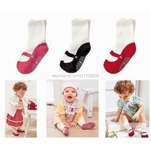 New Arrival Cute Mini Footgear Baby Kids Non-Slip Socks Children Socks Baby'S Gifts 3 Colors(China (Mainland))