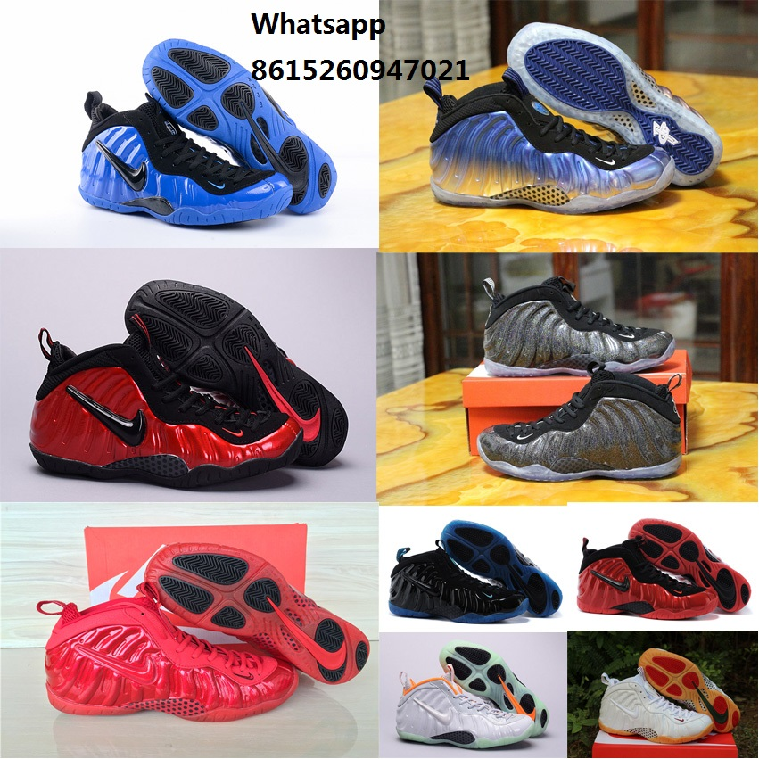 New 2016 mens air penny hardaway shoes AS mirror royal blue university gym red white Northern Lights with original box(China (Mainland))