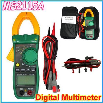 1pcs MASTECH MS2115A True RMS Digital Clamp Meter Multimeter Voltage Current Resistance Capacitance Tester register<br><br>Aliexpress