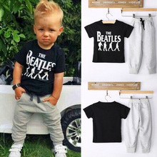 Summer Kids Clothes Sets Short Sleeve Boy T-shirt Pants Suit Clothing Set Newborn Sport Suits Children Baby Boy Clothes (China (Mainland))