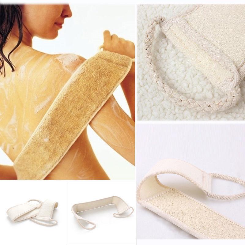 1 PCS Exfoliating Loofah Back Strap Bath Shower Massage Scrubber Sponge Body Brush NEW(China (Mainland))