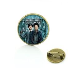 Tafree Vintage Sherlock Holmes Benedict Pin Bros Antik Fashion Pria Wanita Pesona Perhiasan Aku Sherlocked Lencana Bros CT07(China)