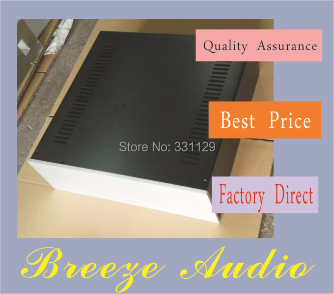 Breeze Audio-Internal space wide CD/preamp/incorporated /HTPC aluminum chassis 430*140*423mm (aluminum enclosure)4314(China (Mainland))