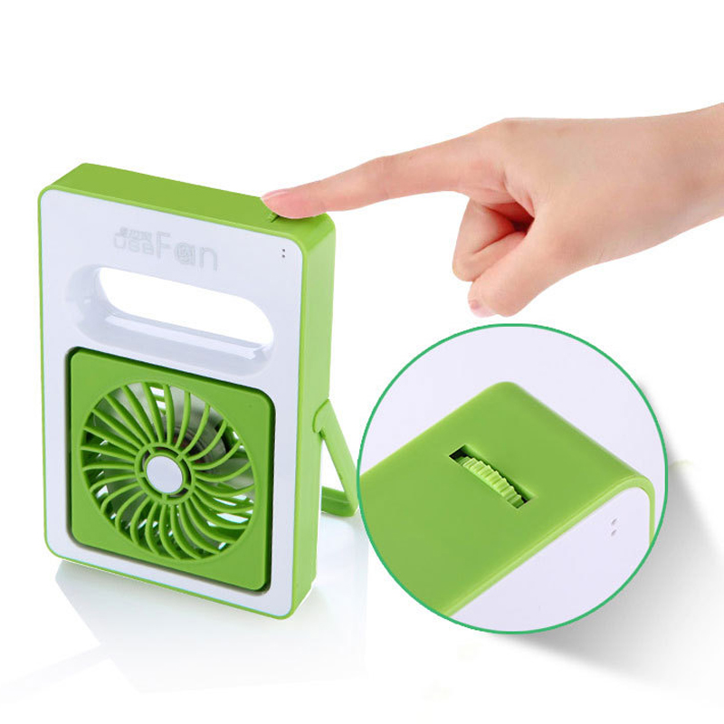 Quality Rechargeable USB Fan Mini Desktop Air Conditioner Summer Portable Handheld Fan Air Condition 2000amh 180 Angle Big Wind(China (Mainland))
