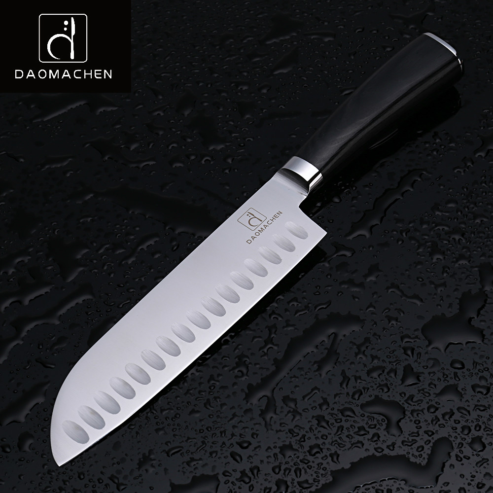 DAOMAOCHEN kitchen knives slicing knives 7 inch high quality steel chef's knife Japanese knife color wood handle kitchen tools(China (Mainland))