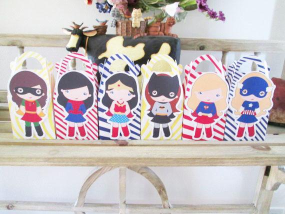 Wonder Girls Superhero Favor Box Candy Box Gift Box Cupcake Box Boy Kids Birthday Party Supplies Decoration Party Supplies(China (Mainland))
