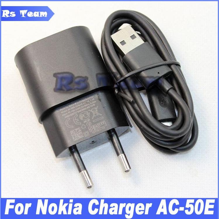 High Quality AC-50E/AC-50C 5V 1.3A US EU Charger Micro USB Data Charging Cable For Nokia Lumia 630 700 720 800 900 930 1020 X XL(China (Mainland))