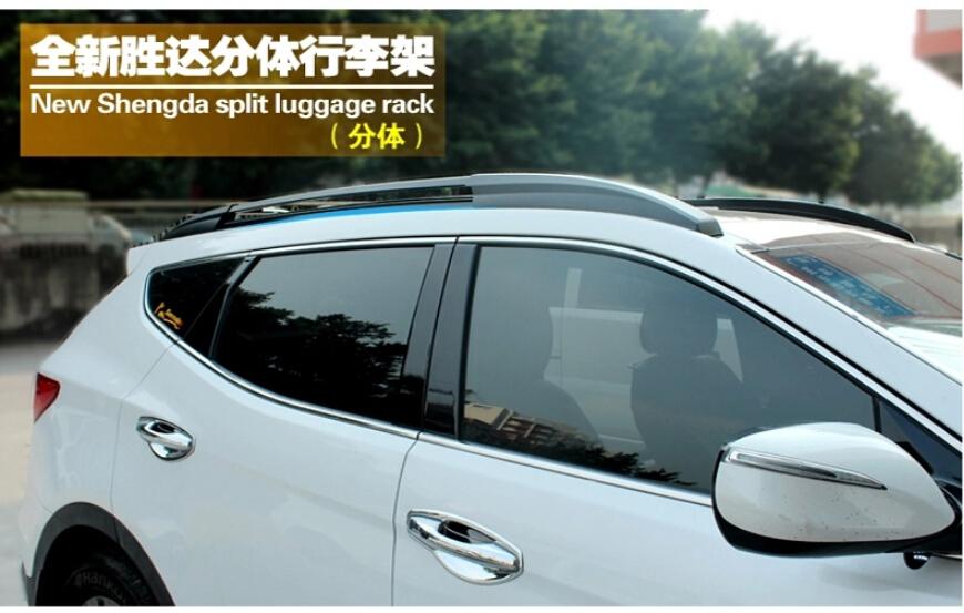 High Quality car Roof Rack/Luggage rack/Roof Racks Modification Accessories For Hyundai Santa fe IX45 2013-2014(China (Mainland))