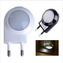 Free Shipping Mini LED 0.6W Night Light Lighting Control Auto Sensor Baby Kid Bedroom Lamp White EU Plug(China (Mainland))