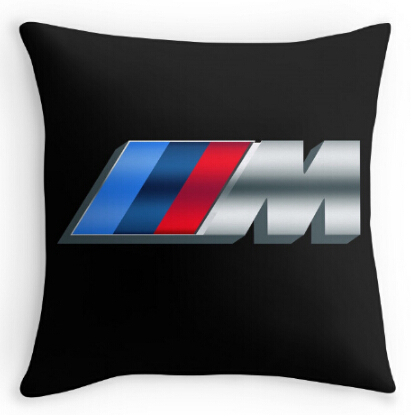 Modern logo for BMW M Cushion Case Pillow cover 16x16 18x18 20x20 24x24 inch Two Size Suitbale Silk Pillowcase Anime Car Cover(China (Mainland))