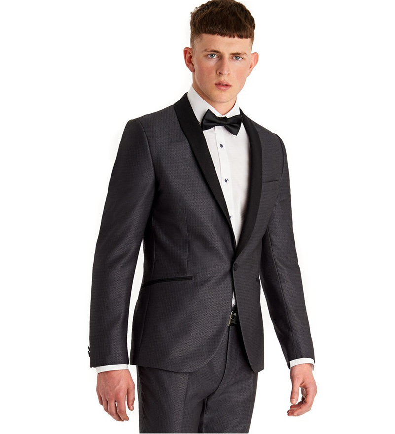 High Quality Wholesale grey suit black tie from China grey suit ...