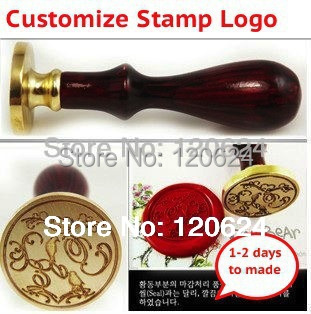 double letter design wedding Retro antique ancient wax to custom design customize logo , Free Shipping(China (Mainland))
