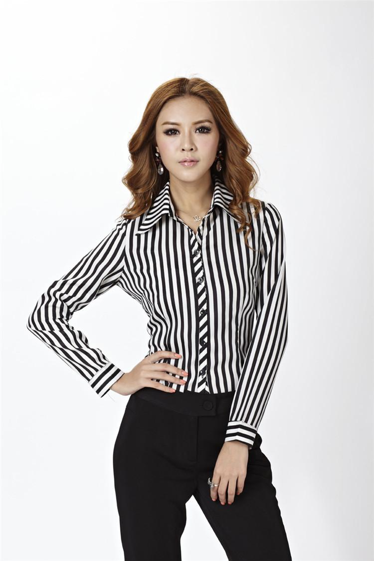 Fashion Formal Women Shirts Work Wear For Office Ladies