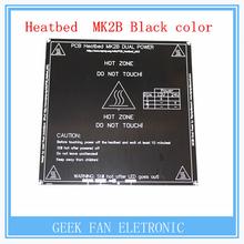 Nueva RepRap 3D PCB Impresora Heatbed MK2B Climatizada Cama Placa Caliente Para Prusa Mendel y MK2A MK1 Color Negro S202(China (Mainland))